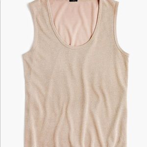 J. Crew Gold Sparkle scoop tank